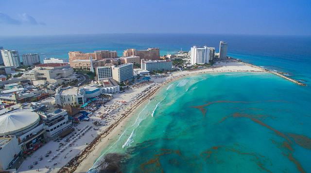 Cancún, paraíso de feminicidios. Foto: dronepicr