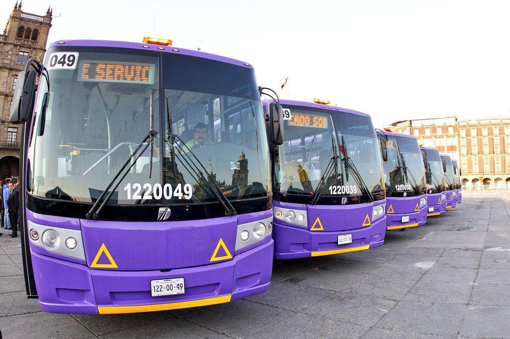 Se anuncian 7 corredores de transporte público para CDMX