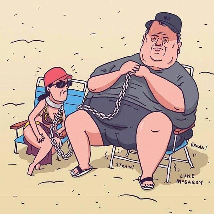 Chistie the Hutt tomando el sol en playa pública cerrada