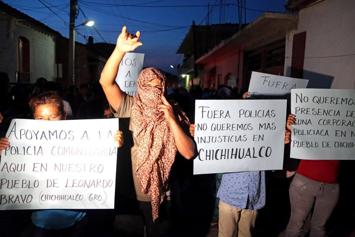Vecinos de Chichihualco exigen salida de la PF