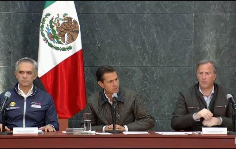 Enrique Peña Nieto anunció el inicio de la etapa de reconstrucción tras el sismo del 19 de septiembre