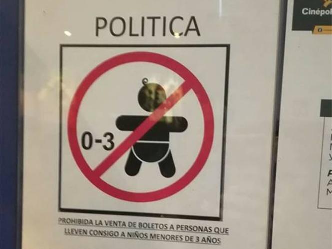 Cinepolis en Campeche prohibe entrada de niños de 0 a 3