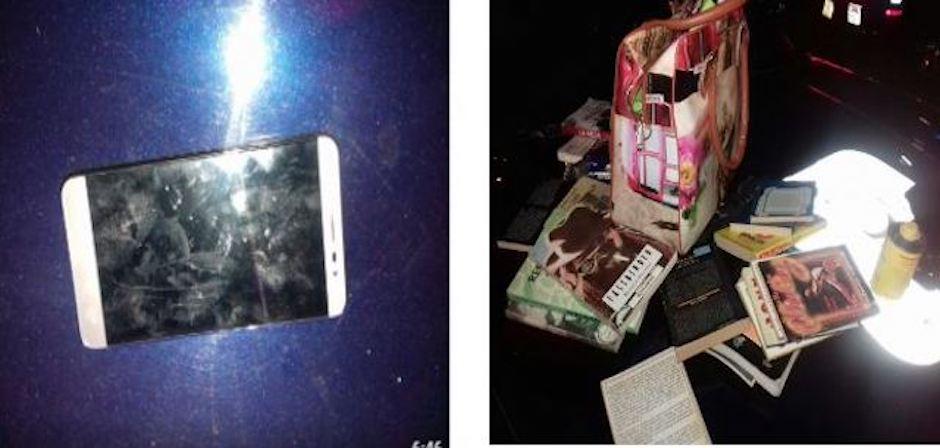 Objetos recuperados por la SSP de los ladrones de libros