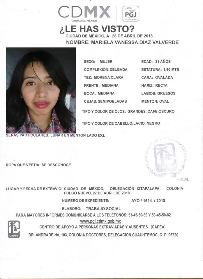Reportan desaparición de Vanessa Díaz, alumna de la UNAM