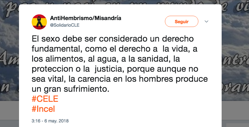 Incel movimiento machista misógino derecha definición español