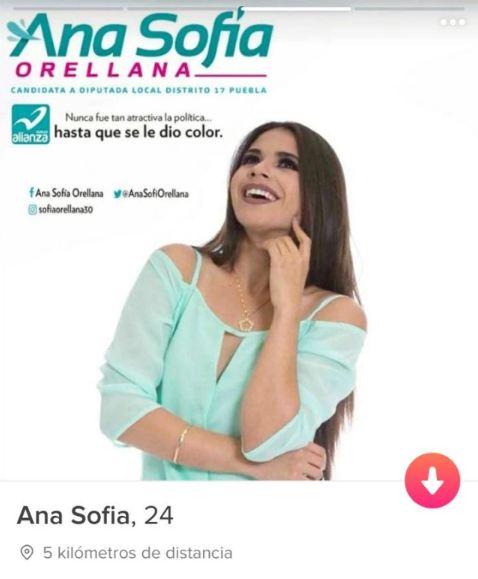 Ana Sofía Orellana y su campaña... en Tinder