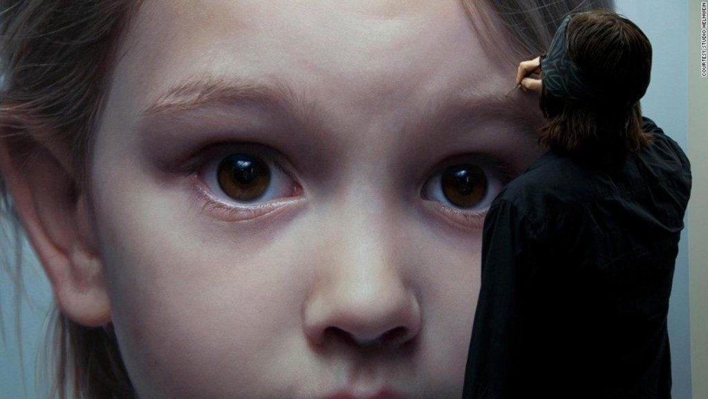 Gottfried Helnwein Pintura Hiperrealista