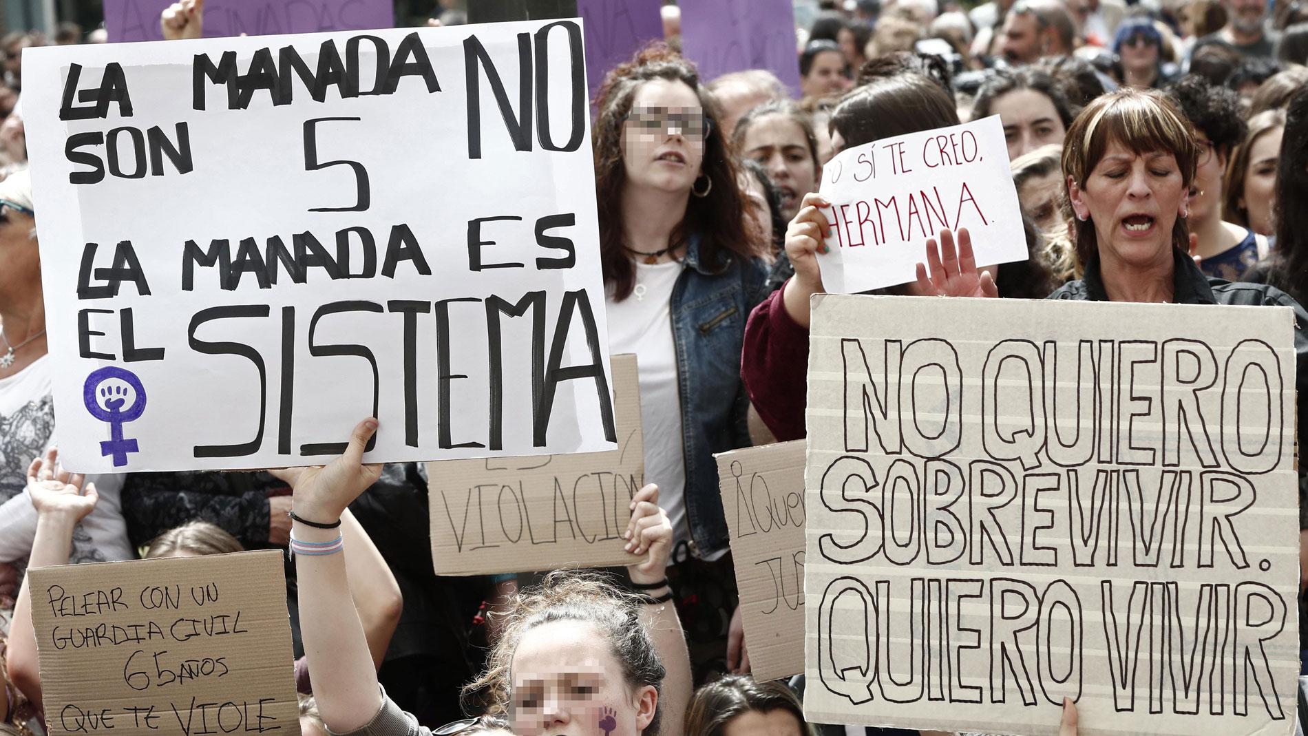 La Manada, Protestas, Madrid