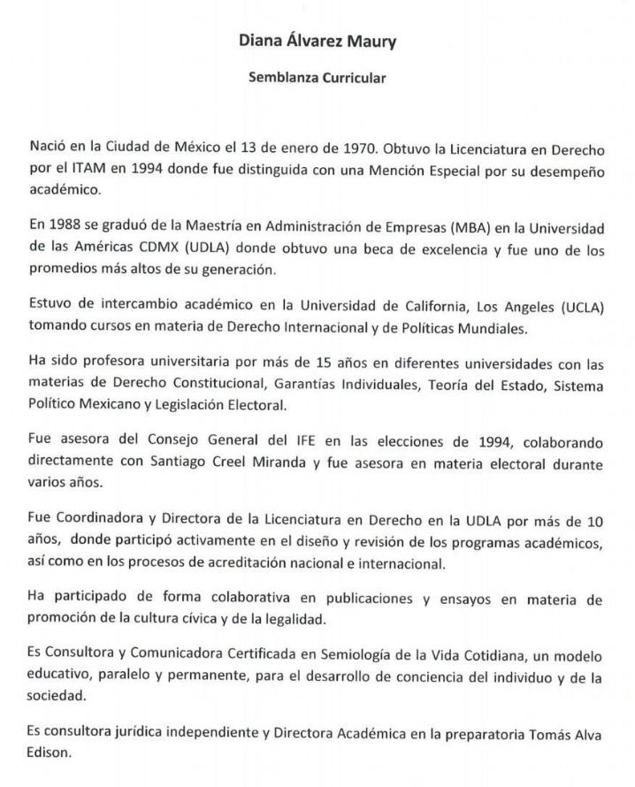 Subsecretaría de Gobernación, Diana Álvarez