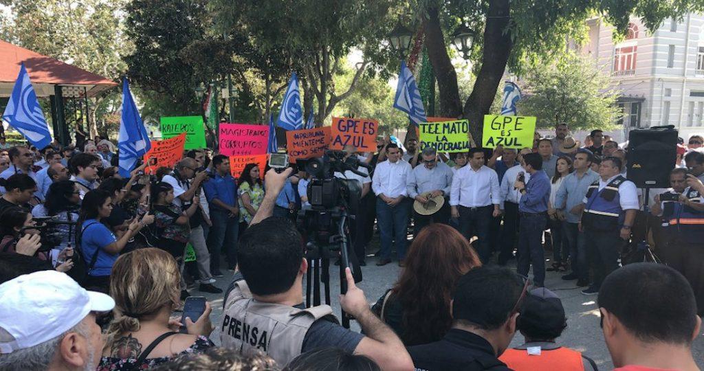 Protestas en Guadalupe por decidión del TEE