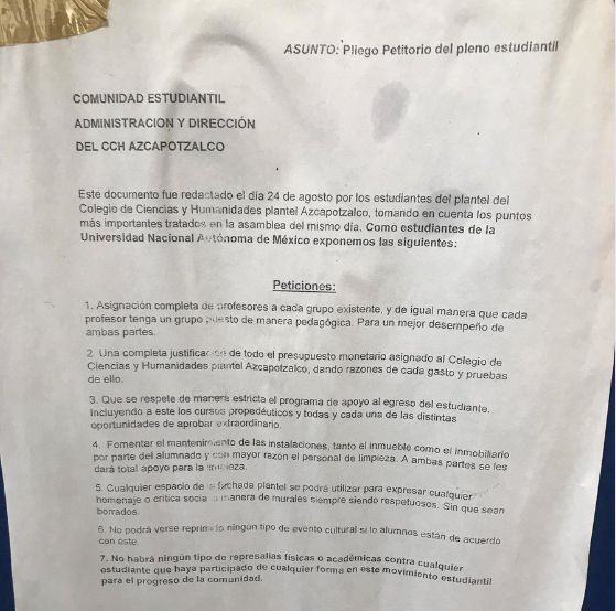 Prepas y CCH de la UNAM buscan irse a paro