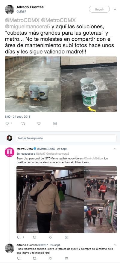 Discusión en redes tras denuncia de usuario del Metro