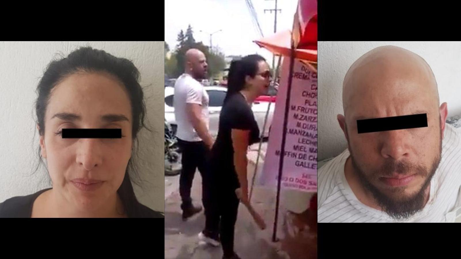 Detienen y liberan a pareja que golpeó a vendedor de nieves