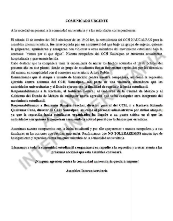 CCH Naucalpan, Vocera, Ataque