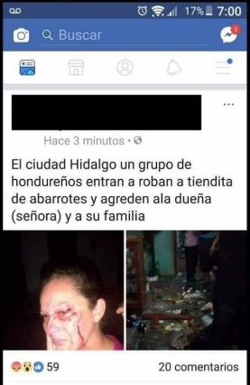 Denuncias de presuntos robos en Chiapas por migrantes