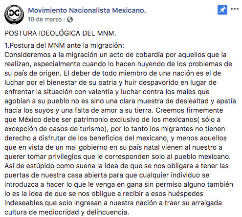 'Postura ideológica' de grupo fascista mexicano que se apersonó en #MarchaFifí