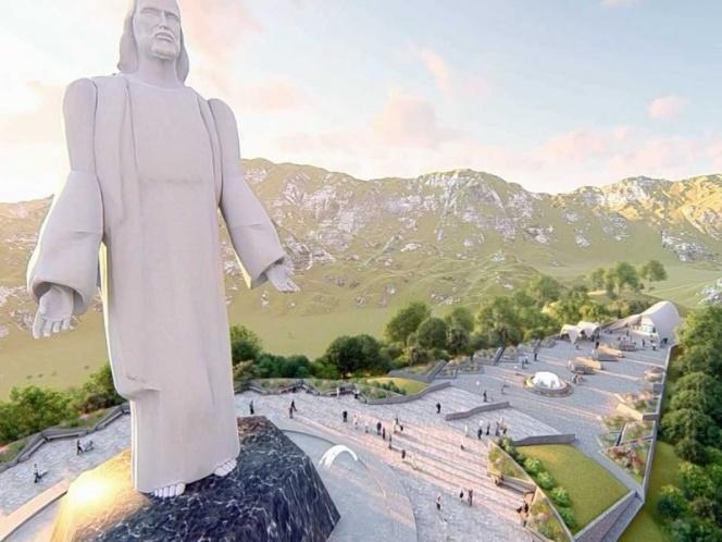 Render del Cristo Milagroso, que se construirá en Santiago, NL