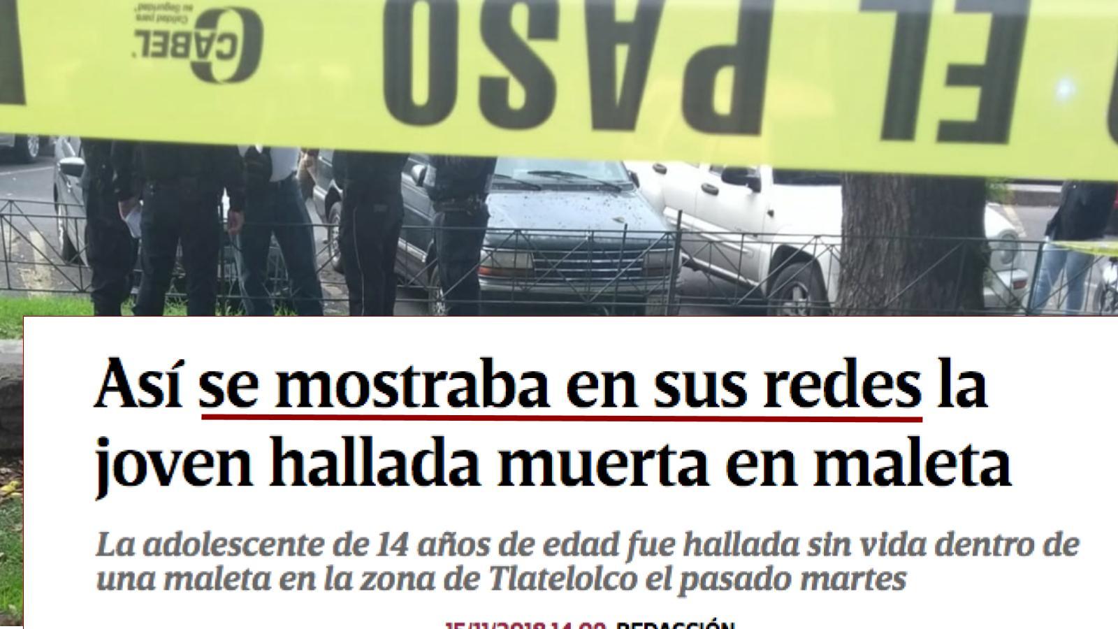 Así revictimiza el diario Excélsior a adolescente asesinada en Tlatelolco. Noticias en tiempo real