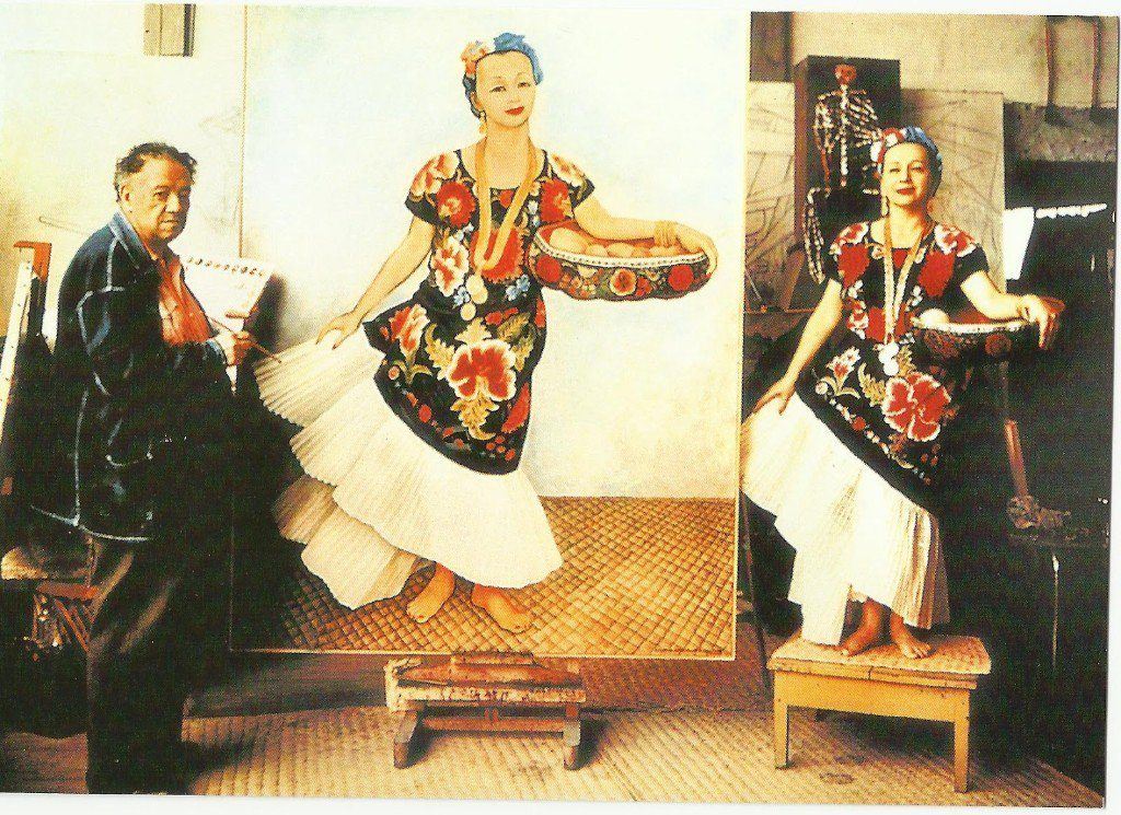 Dolores Olmedo posando para Diego Rivera