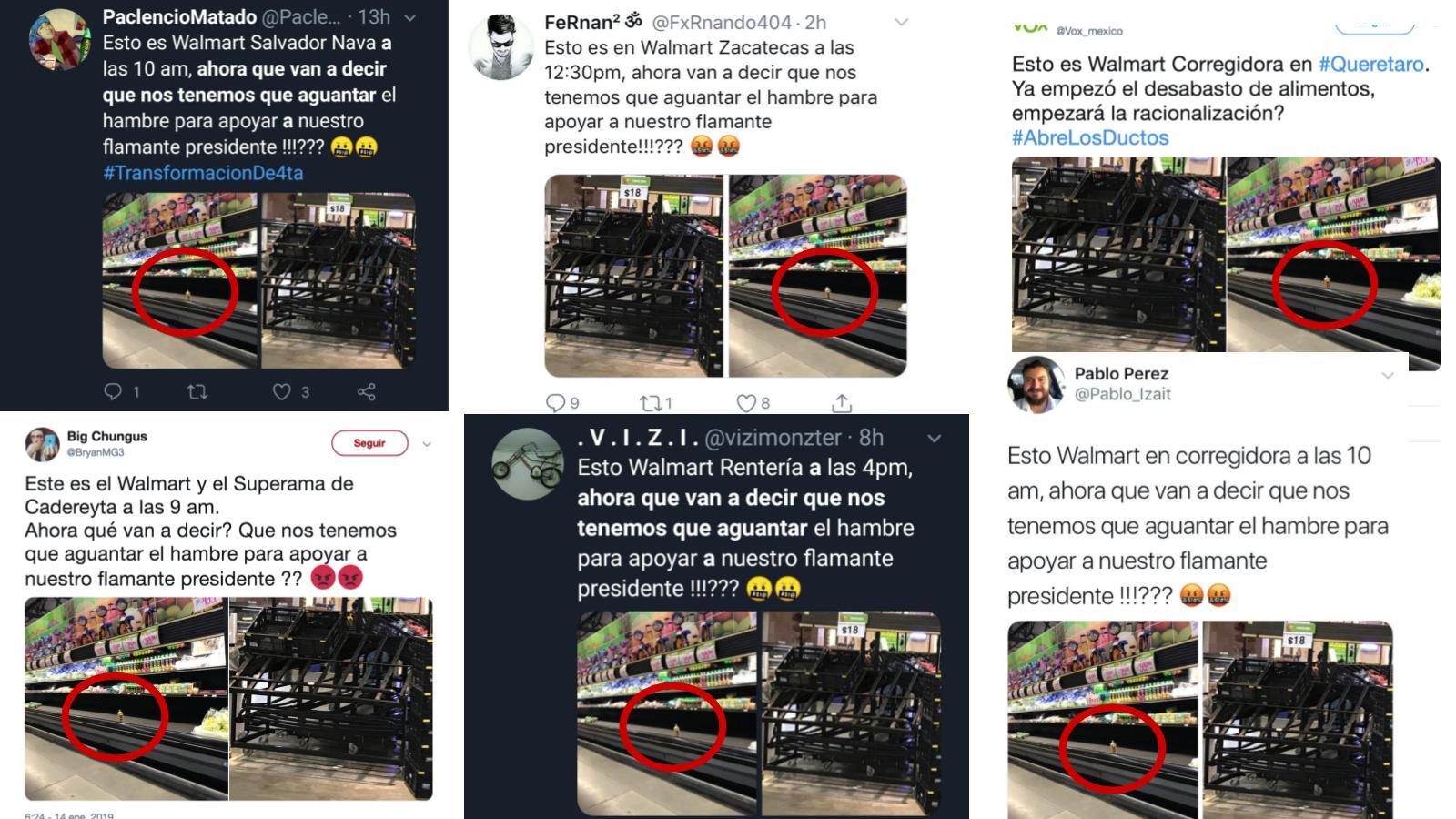 Denuncian 'desabasto' en supermercados… con las mismas fotos y la misma queja. Noticias en tiempo real