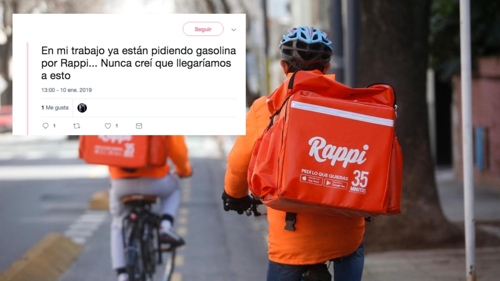 Usuarios de Rappi piden gasolina y arriesgan a repartidores