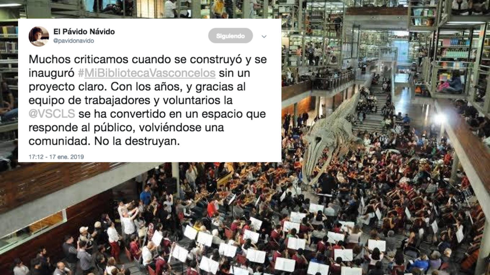 Trabajadores de Biblioteca Vasconcelos temen despidos