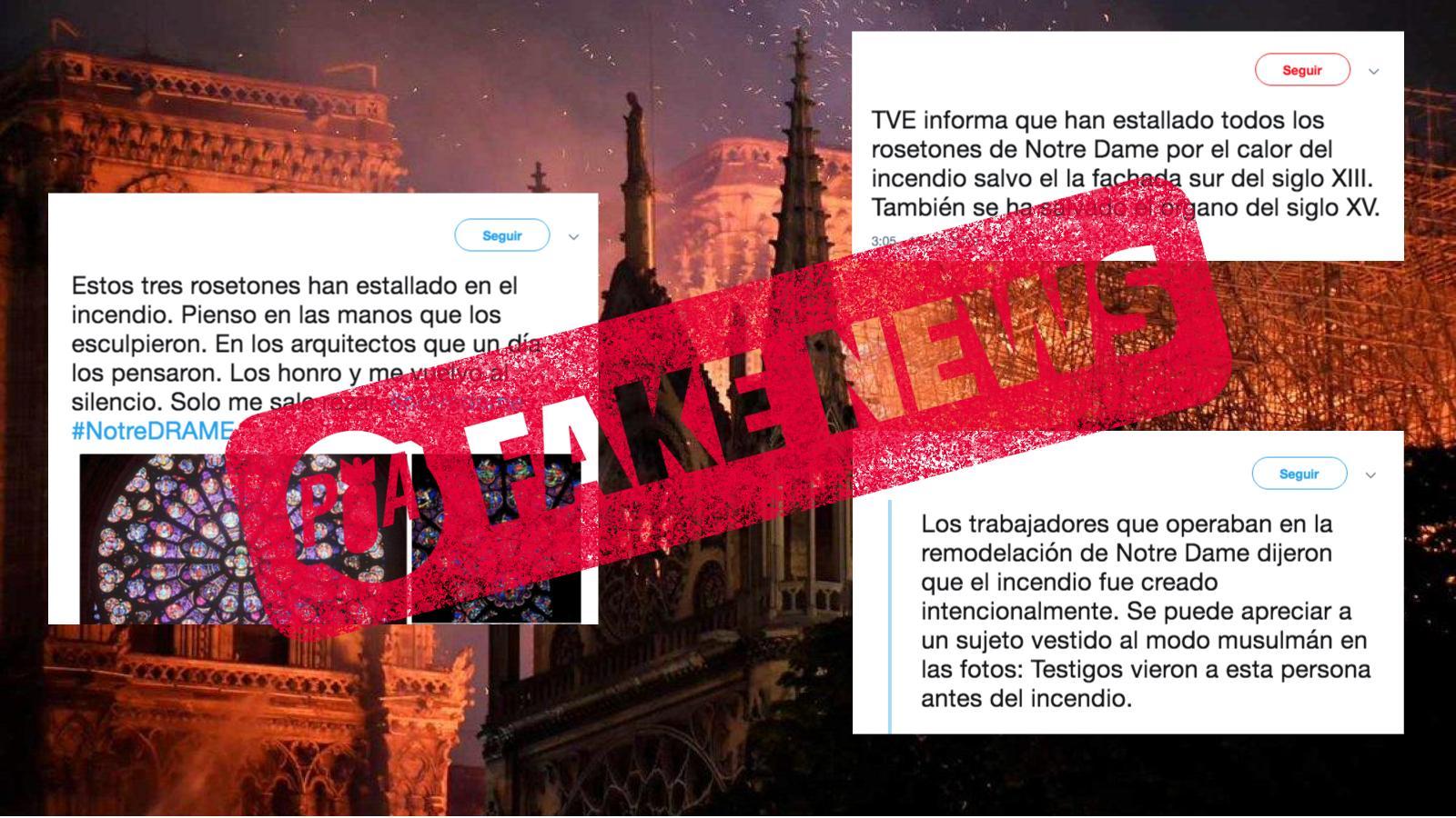Fake News sobre incendio de Notre Dame