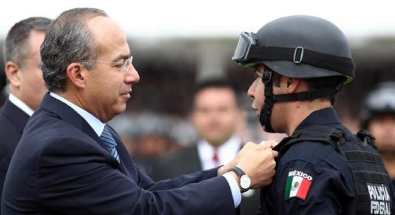 Policía Federal invita a Calderón a ser líder sindical