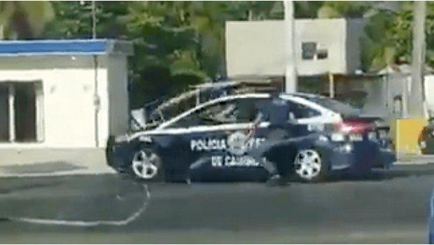 En Tabasco un hombre ebrio robó una patrulla