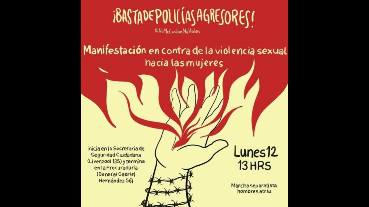 Convocan manifestación ante denuncias de violación policiaca