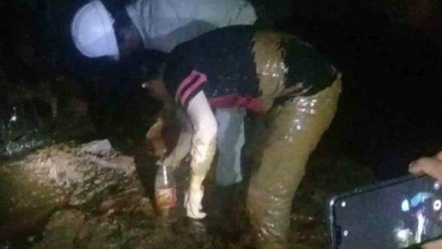 Familia buscaba agua y encontró petróleo en pozo