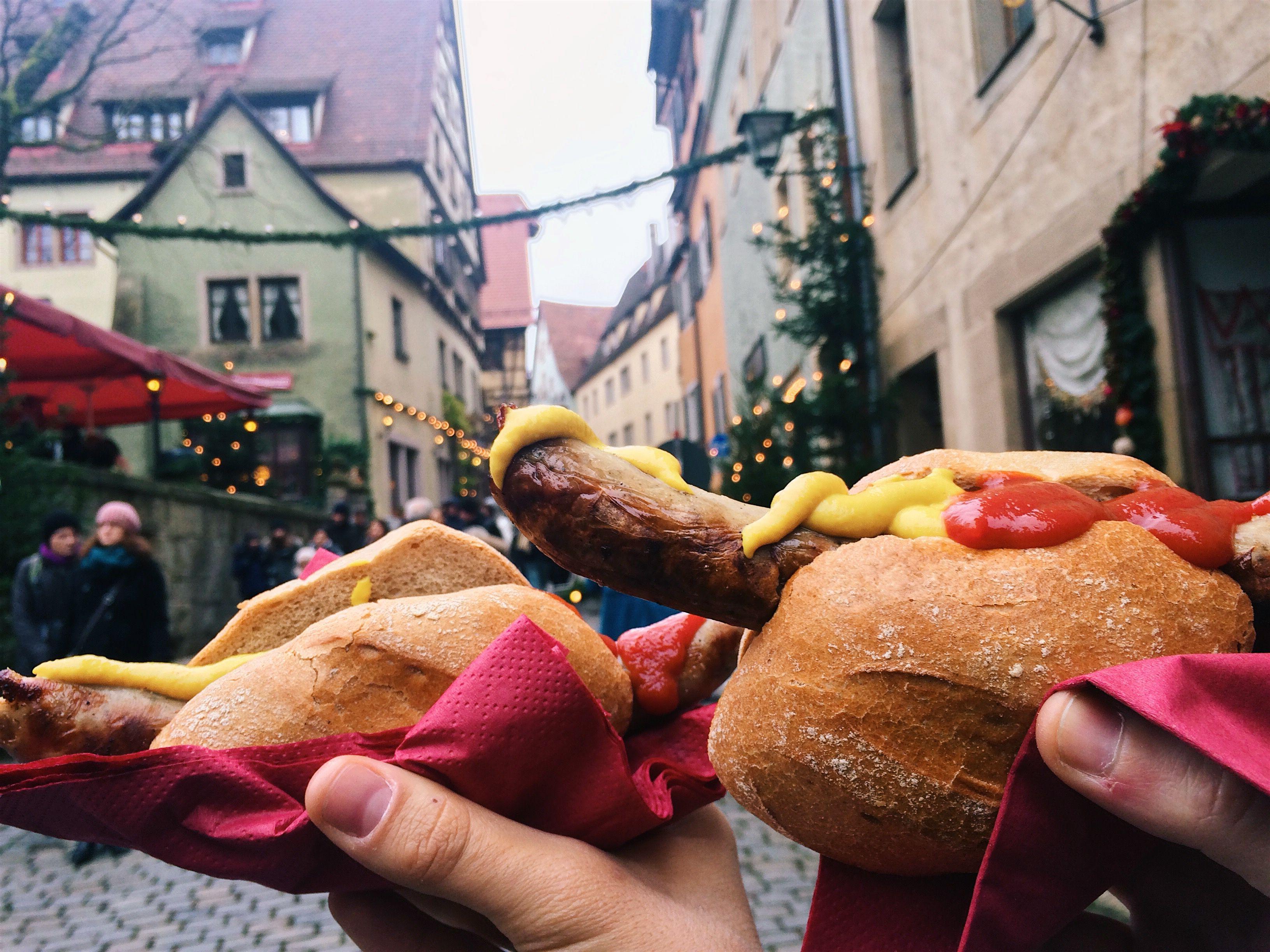 Hot dog típico alemán