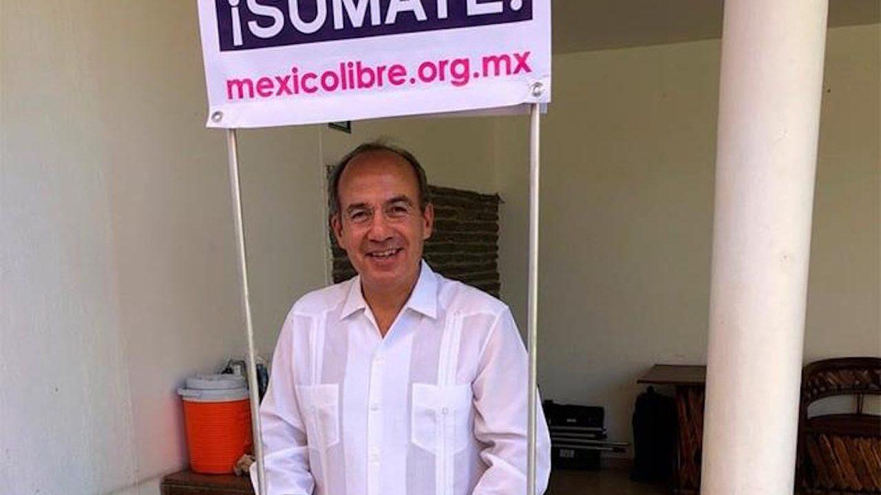 Acarreados en mitin de México Libre, partido de Calderón